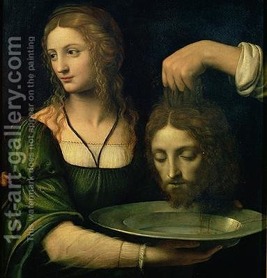 Salome with the Head of St John the Baptist by Bernardino Luini - Reproduction Oil Painting