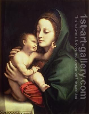 Madonna and child 1510 by Bernardino Luini - Reproduction Oil Painting