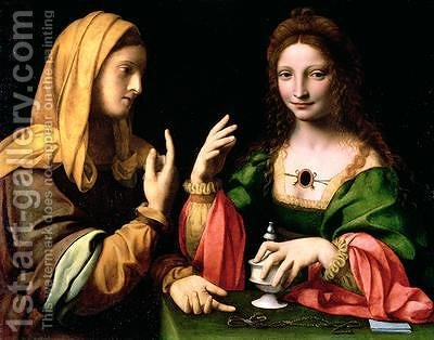 The Conversion of the Magdalen 1510-20 by Bernardino Luini - Reproduction Oil Painting