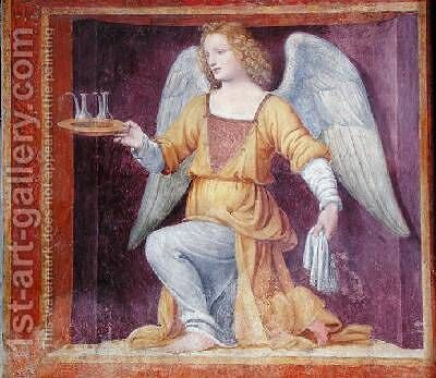 An Angel 1525 by Bernardino Luini - Reproduction Oil Painting
