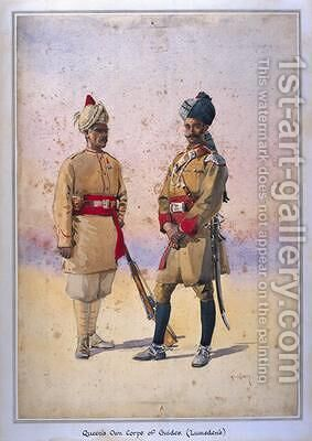 Soldiers of the Queens Own Corps of Guides Lumsdens Infantry Tanaoli Pathan by Alfred Crowdy Lovett - Reproduction Oil Painting