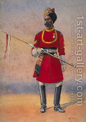Governors Bodyguard Madras Madrasi Musalman by Alfred Crowdy Lovett - Reproduction Oil Painting