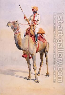 Sowar of the Bikanir Camel Corps by Alfred Crowdy Lovett - Reproduction Oil Painting