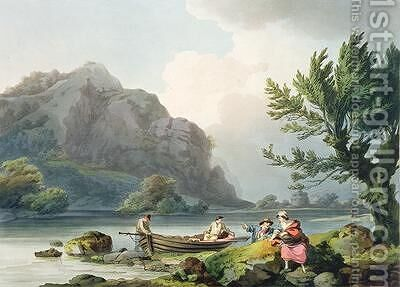 Lake of Wyndermere by (after) Loutherbourg, Philippe de - Reproduction Oil Painting