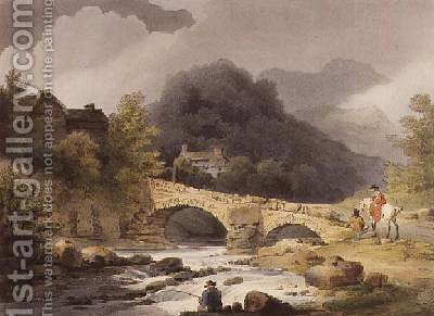 Brathay Bridge by (after) Loutherbourg, Philippe de - Reproduction Oil Painting