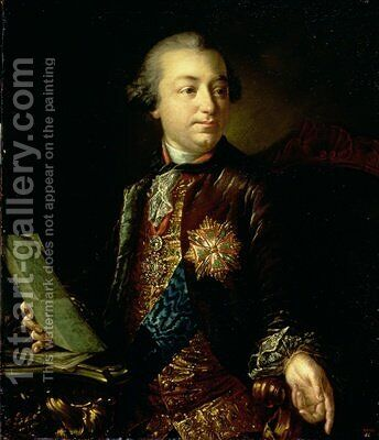 Portrait of Ivan Ivanovich Shuvalov 1727-97 President of the Academy of Arts by Anton Losenko - Reproduction Oil Painting