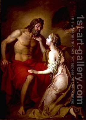 Zeus and Thetis 1769 by Anton Losenko - Reproduction Oil Painting