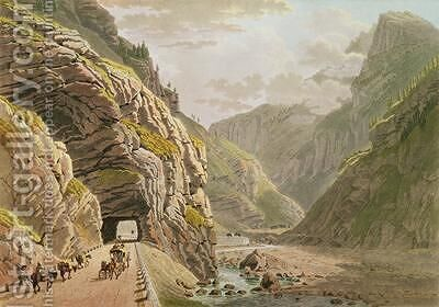 View of the Galerie dAlgaby near the Valais Border 1811 by Mathias Gabriel Lory - Reproduction Oil Painting