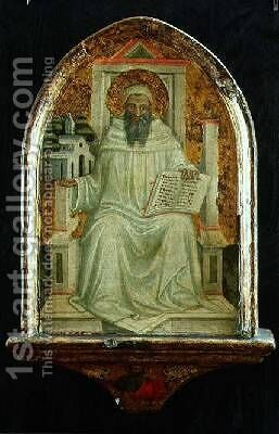 St Romuald by Bicci Di Lorenzo - Reproduction Oil Painting