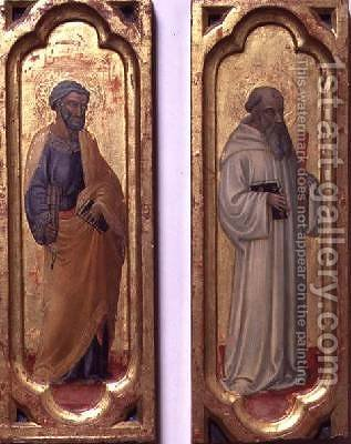 St Peter and St Benedict by Bicci Di Lorenzo - Reproduction Oil Painting
