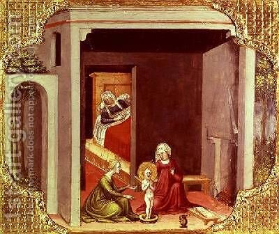 The Birth of St Nicholas by Bicci Di Lorenzo - Reproduction Oil Painting
