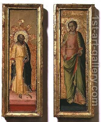 St Peter and St Paul by Bicci Di Lorenzo - Reproduction Oil Painting