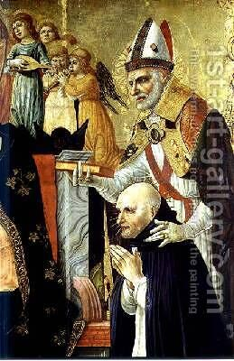 The Marriage of St Catherine of Siena 2 by d'Alessandro da Severino II Lorenzo - Reproduction Oil Painting