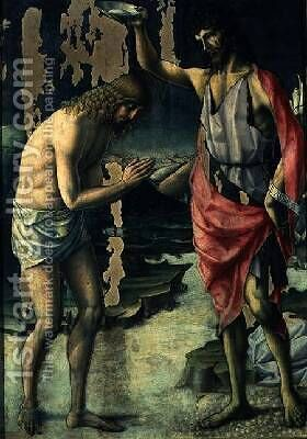 The Baptism of Christ by d'Alessandro da Severino II Lorenzo - Reproduction Oil Painting