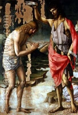 The Baptism of Christ 2 by d'Alessandro da Severino II Lorenzo - Reproduction Oil Painting