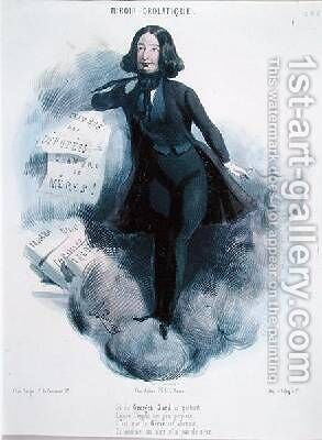 Caricature of George Sand 1804-76 by Alcide Joseph Lorentz - Reproduction Oil Painting