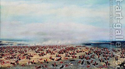 Battle of Tuyuti from the paintings depicting the Triple Alliance War 1866 by Candido Lopez - Reproduction Oil Painting