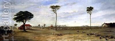 Fortified Camp at Paso de Patria Paraguay 1866 by Candido Lopez - Reproduction Oil Painting