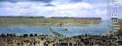The Crossing of the Santa Lucia River Uruguay 1865 by Candido Lopez - Reproduction Oil Painting