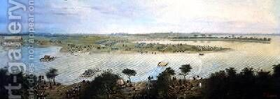 The First Corps of the Argentinian Army Crosses the Corrientes River Argentina on the 5th November 1865 1865 by Candido Lopez - Reproduction Oil Painting