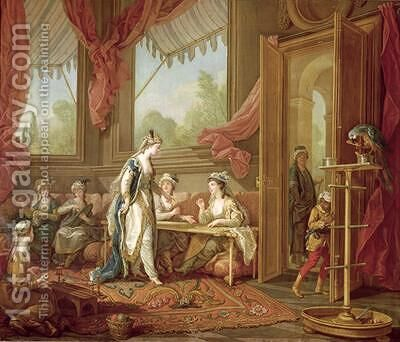 The Sultana Ordering Tapestries from the Odalisques by Charles-Amedee-Philippe van Loo - Reproduction Oil Painting