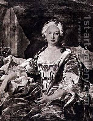 Isabella Elizabeth nee Farnese 1692-1766 by (after) Loo, Carle van - Reproduction Oil Painting