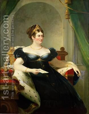 Caroline of Brunswick Consort of George IV 1820 by James Lonsdale - Reproduction Oil Painting