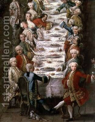 A Banquet in the House of Nanni in the Jewish Quarter by (after) Longhi, Pietro - Reproduction Oil Painting