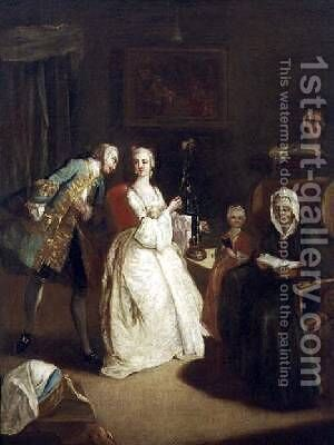 The Declaration of Love by (after) Longhi, Pietro - Reproduction Oil Painting