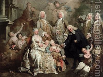 The Family of Procurator Luigi Pisani 1758 by Alessandro Longhi - Reproduction Oil Painting