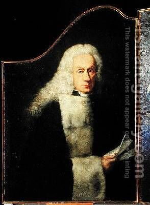 Portrait of a solicitor by Alessandro Longhi - Reproduction Oil Painting