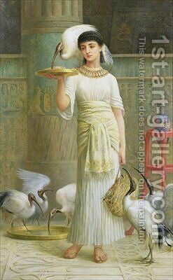 Alethe Attendant of the Sacred Ibis 1888 by Edwin Longsden Long - Reproduction Oil Painting