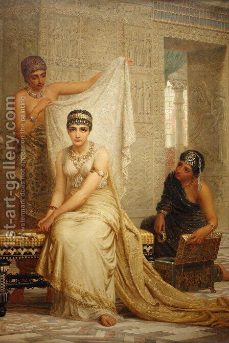 Queen Esther 1878 by Edwin Longsden Long - Reproduction Oil Painting