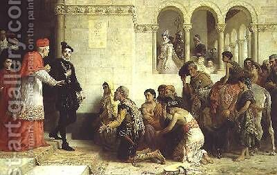 The Supplicants The Expulsion of the Gypsies from Spain 1872 by Edwin Longsden Long - Reproduction Oil Painting