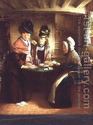 The Fortune Teller by J.L. Lomas - Reproduction Oil Painting