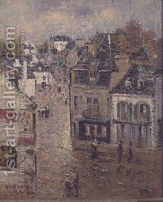 Street in Pont Aven after the Rain by Gustave Loiseau - Reproduction Oil Painting