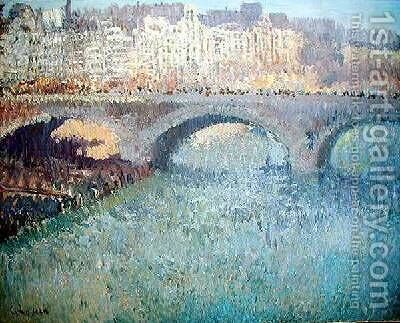 View of the Pont Neuf by Gustave Loiseau - Reproduction Oil Painting