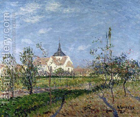 The Church at Vaudreuil 1905 by Gustave Loiseau - Reproduction Oil Painting