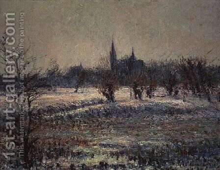 White Frost 1909 by Gustave Loiseau - Reproduction Oil Painting