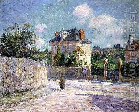 The Small Bourgeois House 1905 by Gustave Loiseau - Reproduction Oil Painting