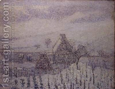 Blizzard at Hedouville by Gustave Loiseau - Reproduction Oil Painting