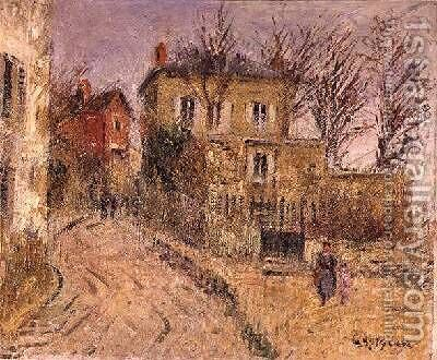 The Village Road by Gustave Loiseau - Reproduction Oil Painting