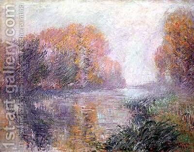 The Banks of the Eure 1920 by Gustave Loiseau - Reproduction Oil Painting