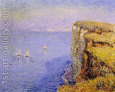 Cliffs in Normandy 1901 by Gustave Loiseau - Reproduction Oil Painting