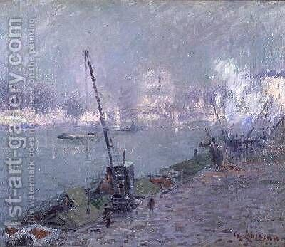 Pont Henri IV by Gustave Loiseau - Reproduction Oil Painting