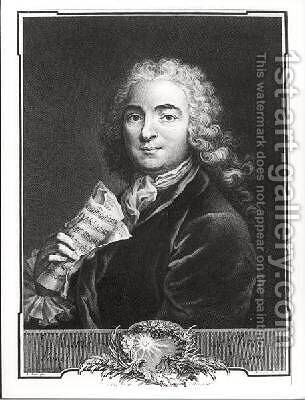 Portrait of Jean-Marie Leclair 1697-1764 the Elder by (after) Loir, Alexis - Reproduction Oil Painting