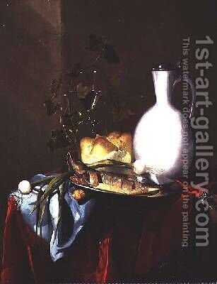 Still life with a white jug by Harmen Loeding - Reproduction Oil Painting