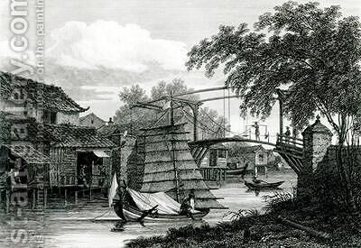 Drawbridge at Malacca by (after) Locker, Edward Hawke - Reproduction Oil Painting