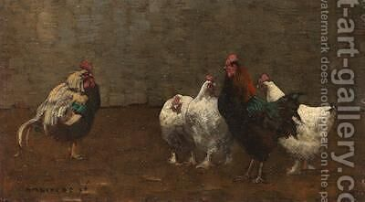 Fowls 1896 2 by Horace Mann Livens - Reproduction Oil Painting