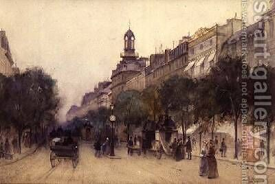 The Boulevard des Italiens Paris 1887 by J. Little - Reproduction Oil Painting